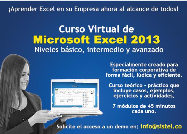 Curso virtual Excel 2013