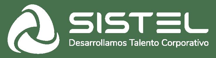 Logo Sistel blanco elearning