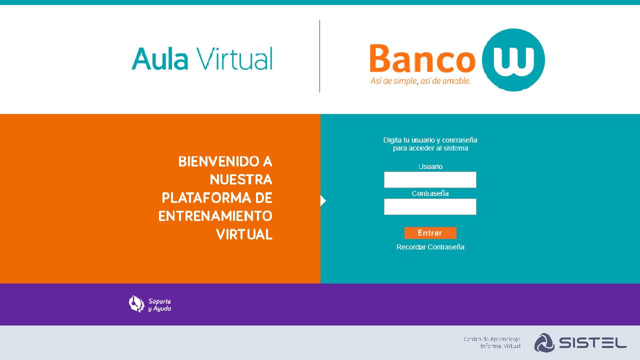 Aula Virtual Banco W Sistel