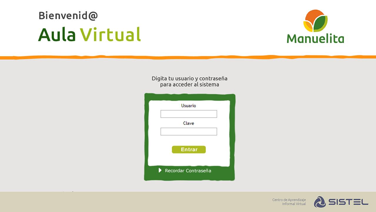 Aula Virtual Manuelita Sistel