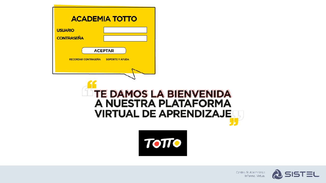 Aula Virtual Totto Sistel
